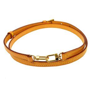 LOUIS VUITTON Logos Shoulder Strap Brown Leather Handbag Accessories